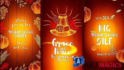 Thanksgiving Pack 332688 - After Effects Templates