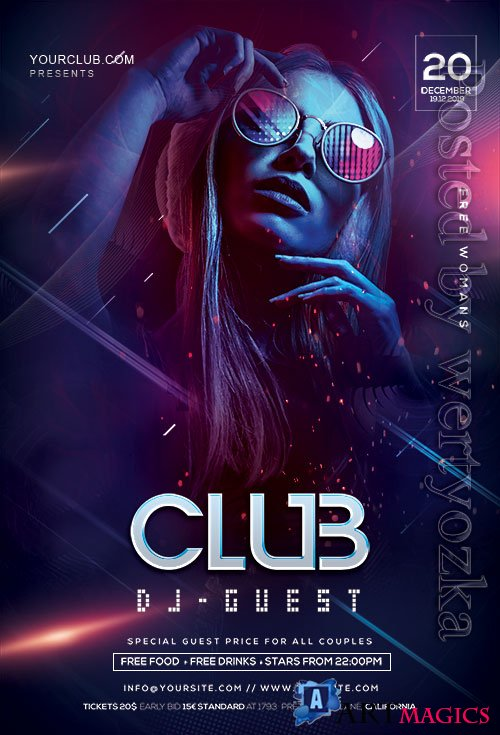 DJ Night Party - Premium flyer psd template