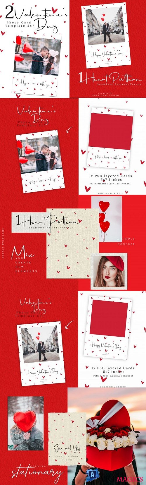 Valentine's Day Photo Card Template - 415055
