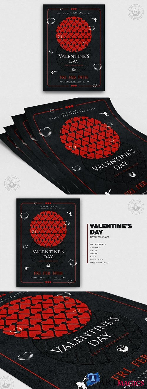 Valentines Day Flyer Template V22 - 4440652