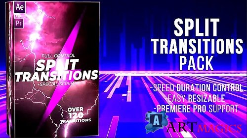 120+ Split Transitions Pack 345820 - After Effects Templates