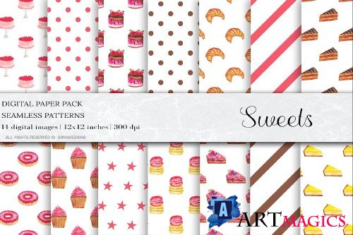 Sweets Digital Papers - 4481718