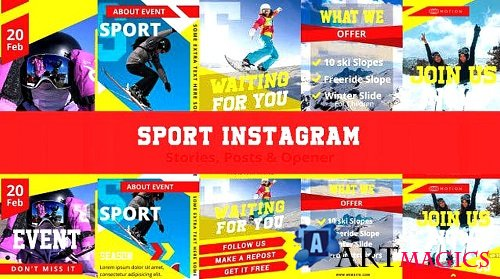 Sport Instagram Stories, Posts & Opener 360221 - After Effects Templates