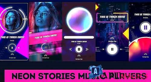 Neon Stories Music Players 359828 - After Effects Templates