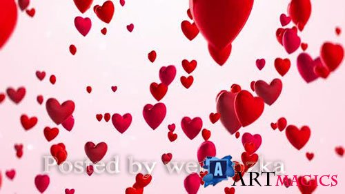 Videohive - Hearts Background -  25578179