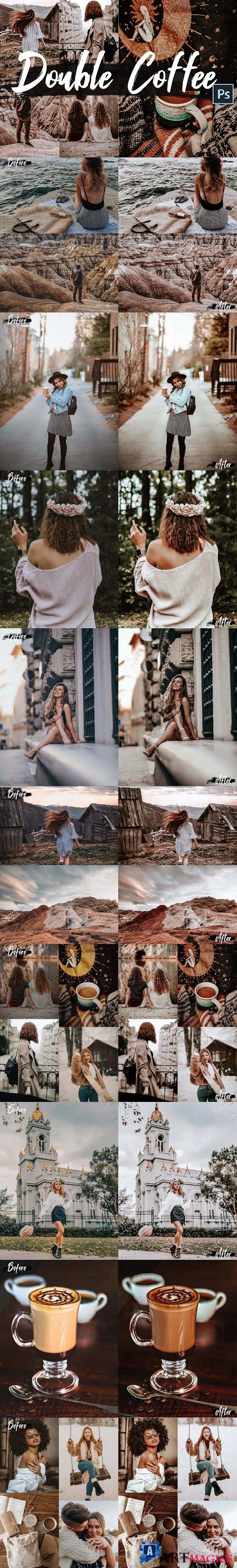 05 Double Coffee Photoshop Actions, ACR and LUT presets - 429531