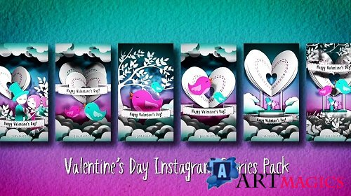 Valentine´s Day Instagram Stories Pack 373711 - After Effects Templates