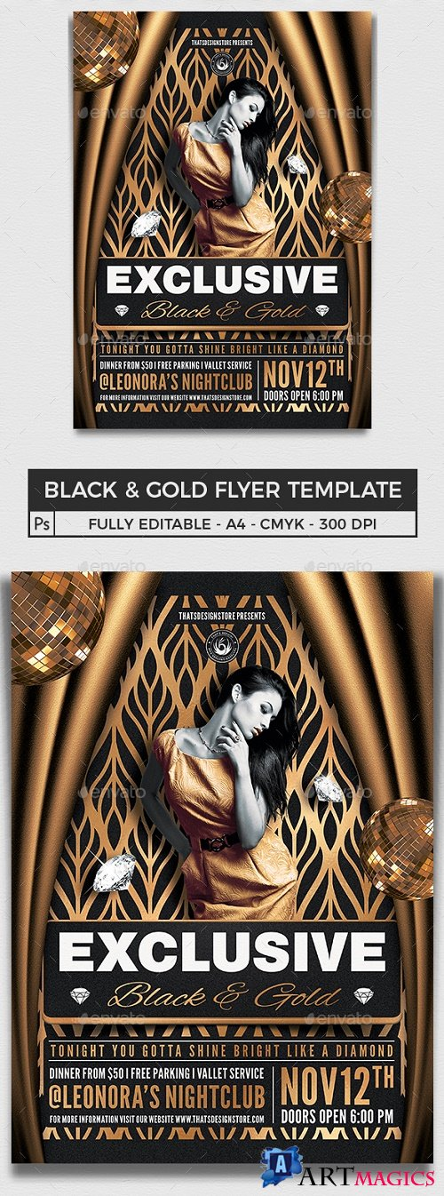 Black and Gold Flyer Template V19 - 25655642 - 4533113