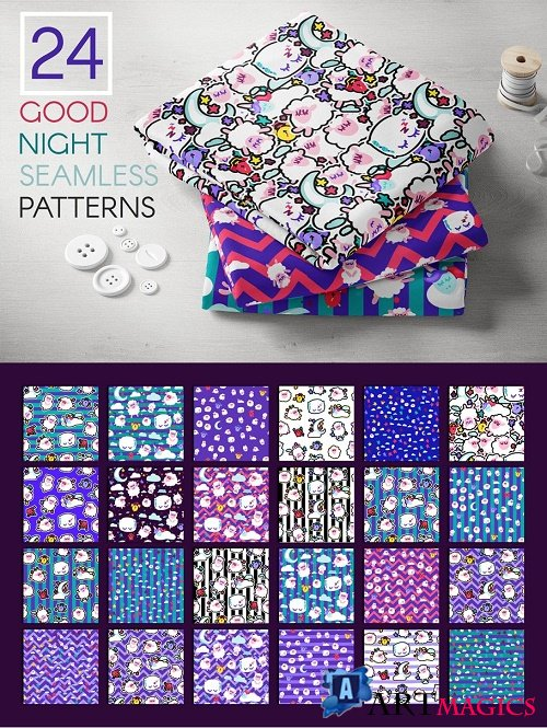 Good Night Patterns Pack - 4067749