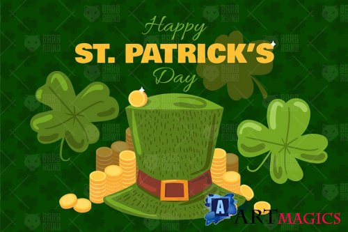 St. Patrick's Day Greeting Banner - 4526817