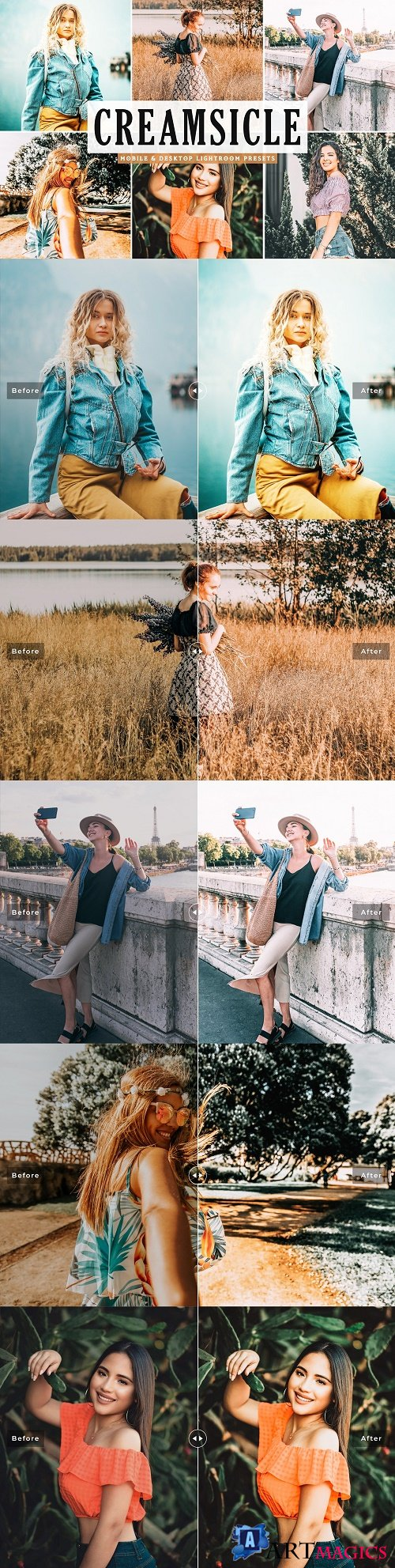 Creamsicle Lightroom Presets Pack - 4639070