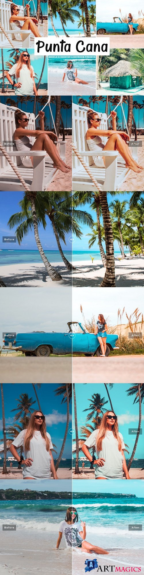 Punta Cana Lightroom Presets Pack - 4640204