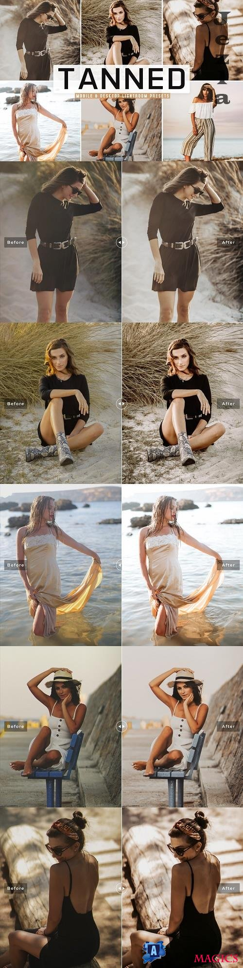 Tanned Lightroom Presets Pack - 4785804 - Mobile & Desktop