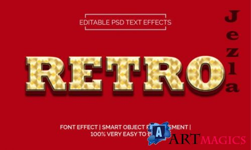 Retro Diamond Plate Text Effects Style