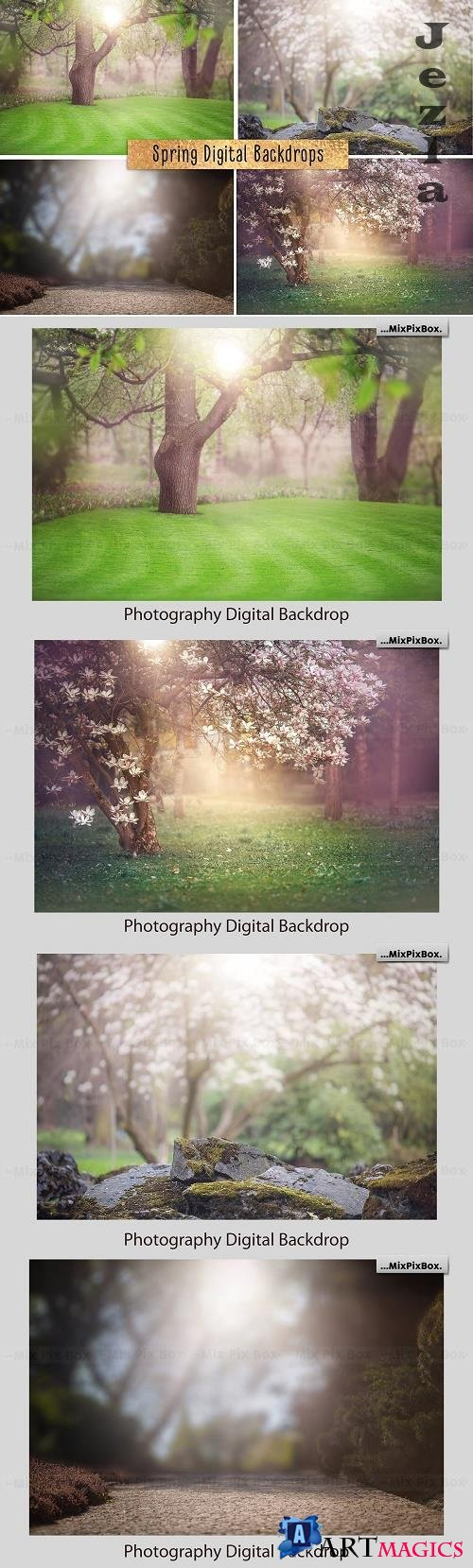 Spring Digital Backdrop - 4858985