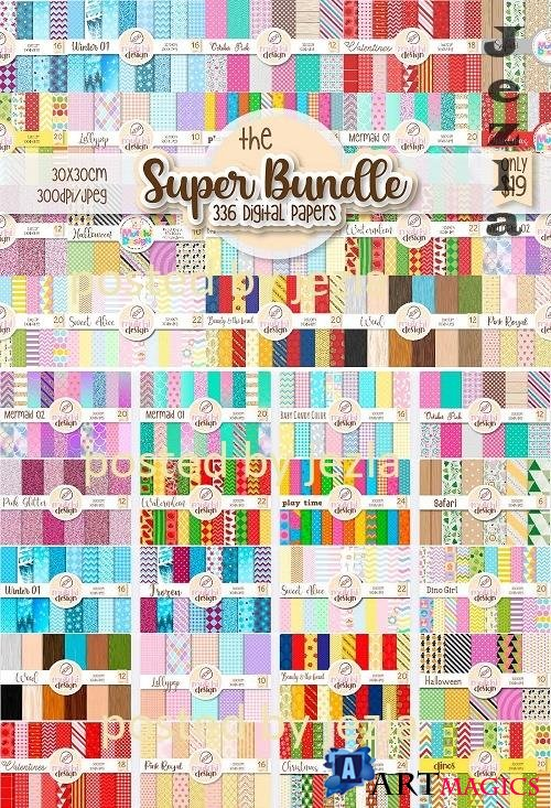 The Super Digital Papers Bundle - 20 Premium Graphics