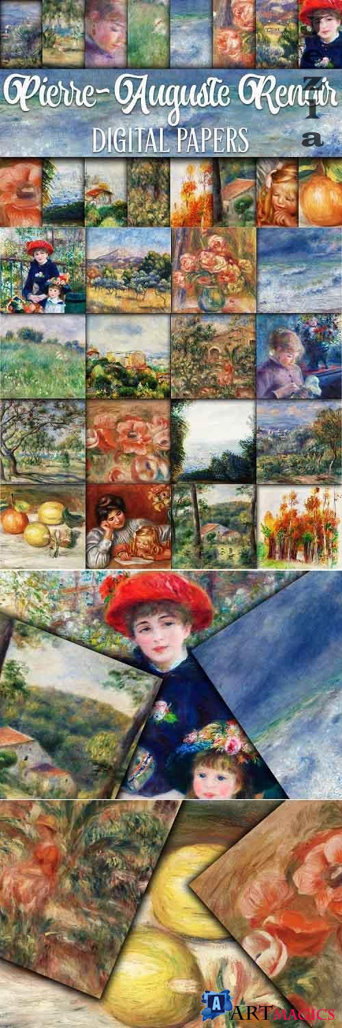 Renoir Paintings Digital Papers - 561312