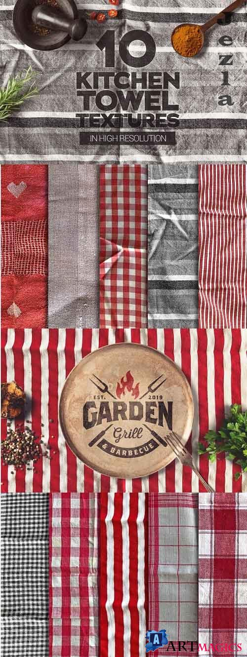 Kitchen Towel Textures x10 - 4909378