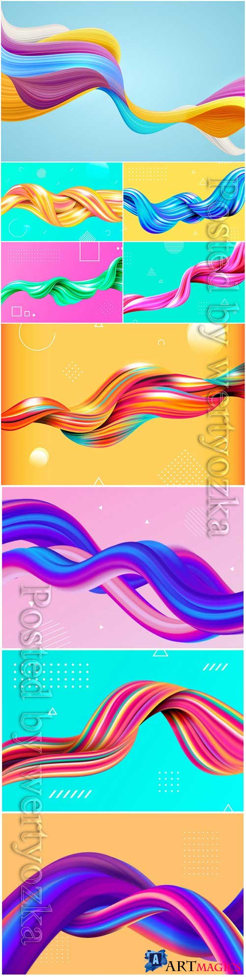 Color flow background vector illustration