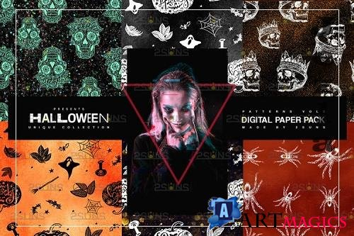 Halloween Digital Paper, Halloween Horror Witch Skulls Ghost - 781919