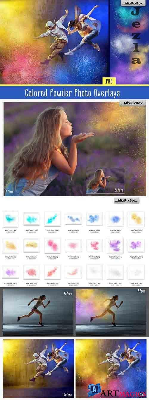 Colored Powder Photo Overlays - 5214243