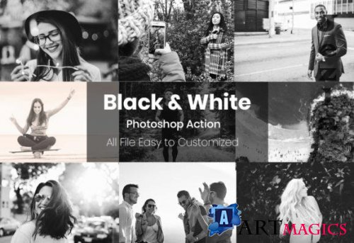 7 Black and White - Photoshop Action