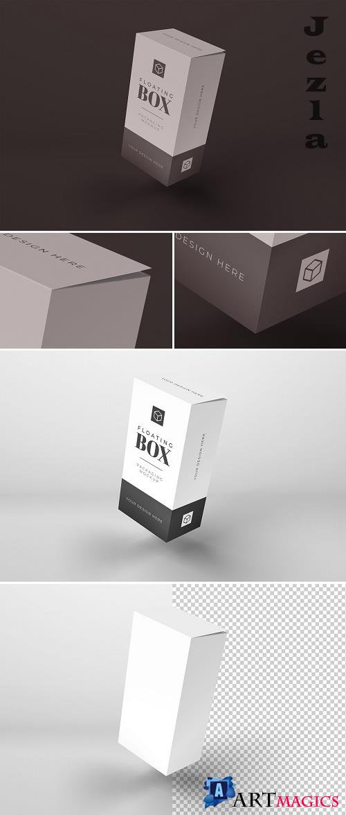 Floating Tall Box Mockup 369525929