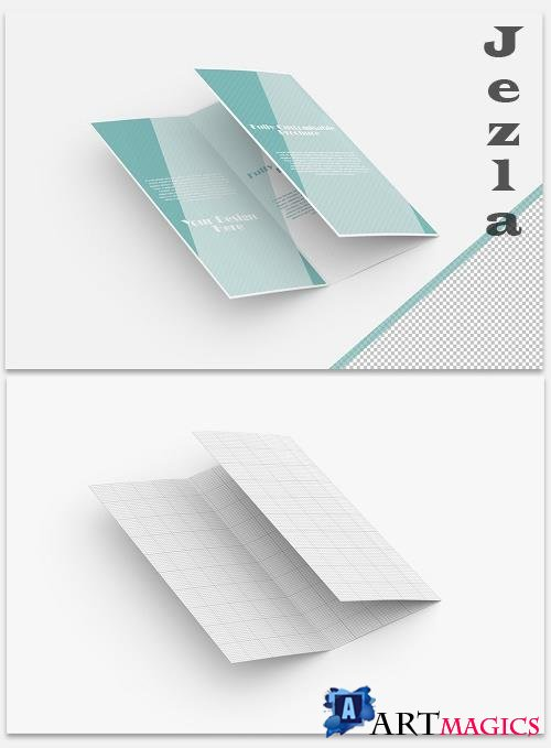 Mockup of a Trifold Brochure 369517985
