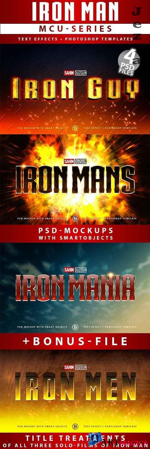 IRON MAN - MCU-Film Series | Text-Effects/Mockups | Template-Package 26615003