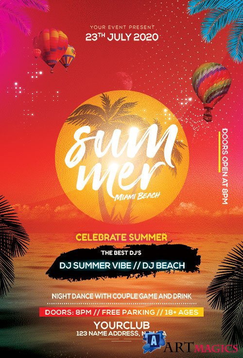 Summer Beach - Premium flyer psd template