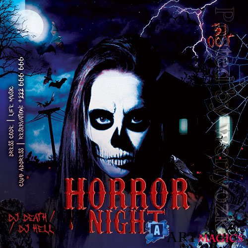 Horror Night Flyer PSD Template