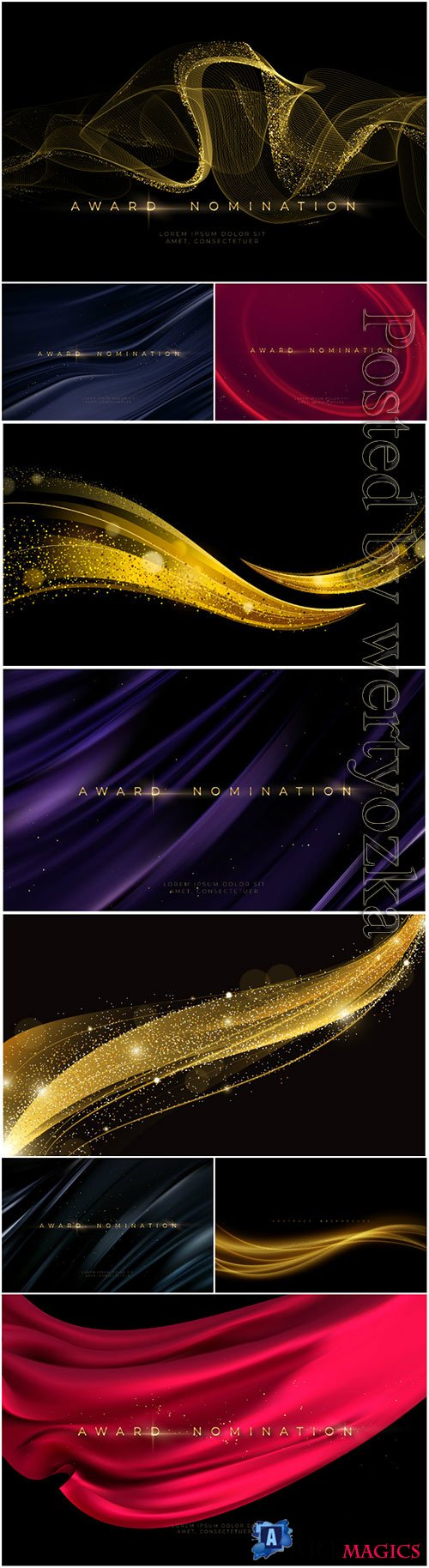 Awards ceremony luxurious black vector background