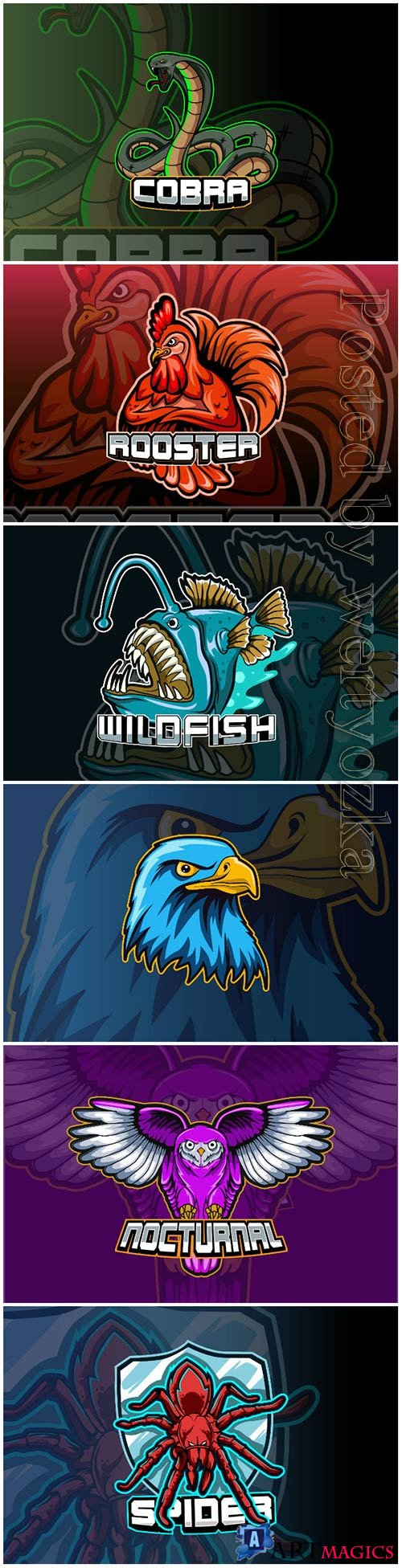 Mascot esport logo design premium vector vol 23