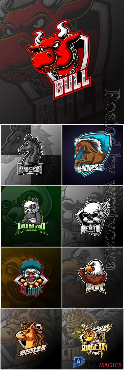 Mascot esport logo design premium vector vol 20