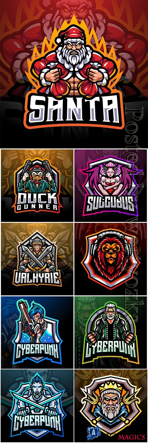 Mascot esport logo design premium vector vol 17