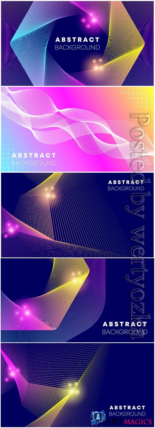 Abstract wave gradient background premium vector