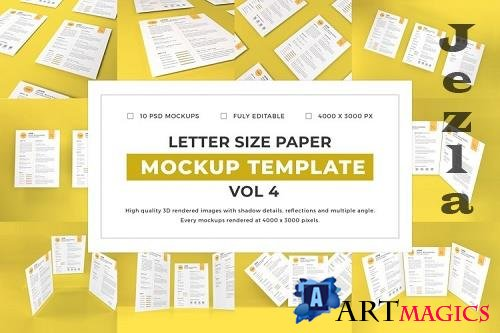 Letter Size Paper Mockup Template Vol 4 - 1077066
