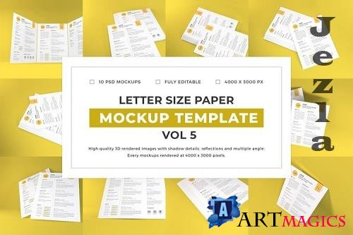 Letter Size Paper Mockup Template Vol 5 - 1077081