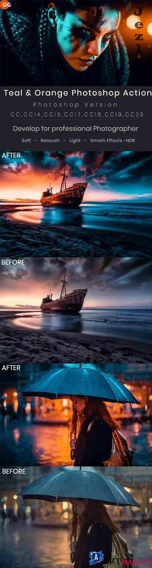 GraphicRiver - Teal & Orange Photoshop Action 28975559