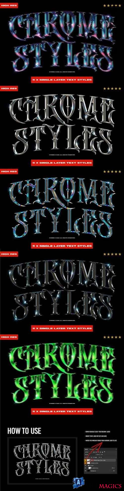CreativeMarket - Chrome Text Styles 3.0 5703914