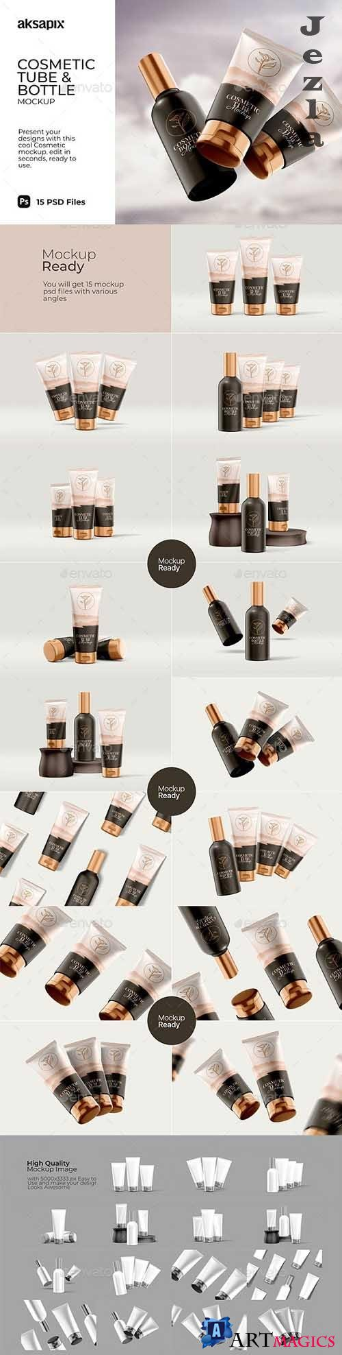 GraphicRiver - Cosmetic Tube & Bottle - Mockup 29810114