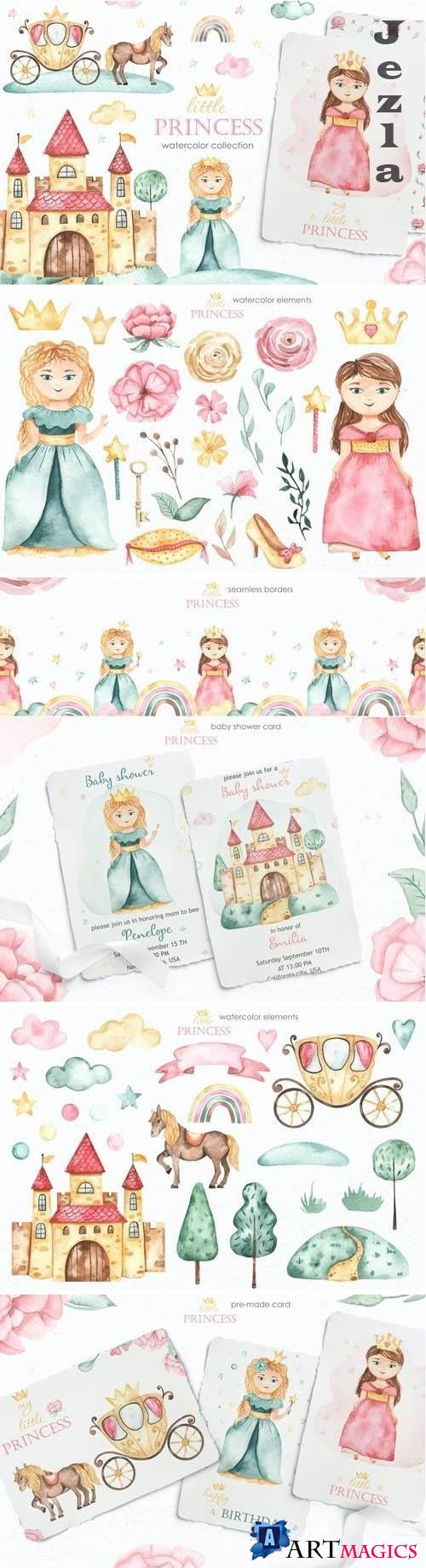 Little princess watercolor - 5660302