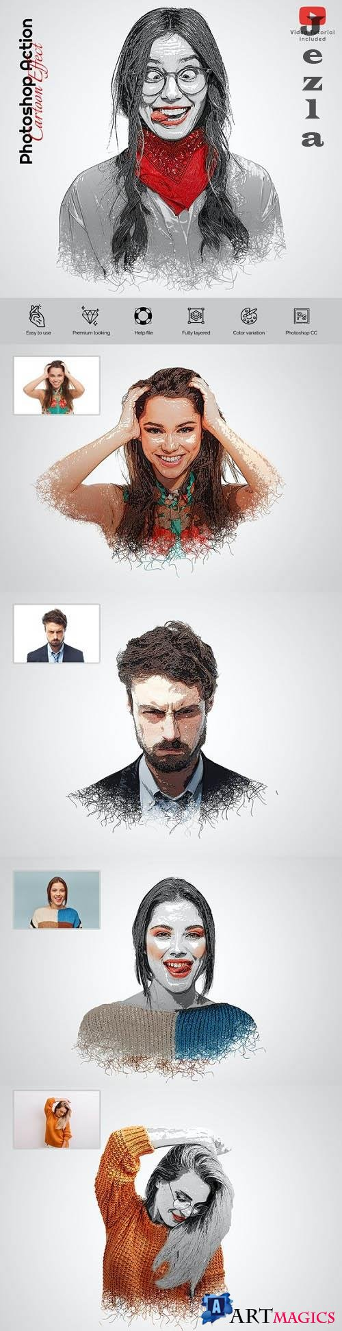 GraphicRiver - Cartoon Effects Photoshop Action 29751253