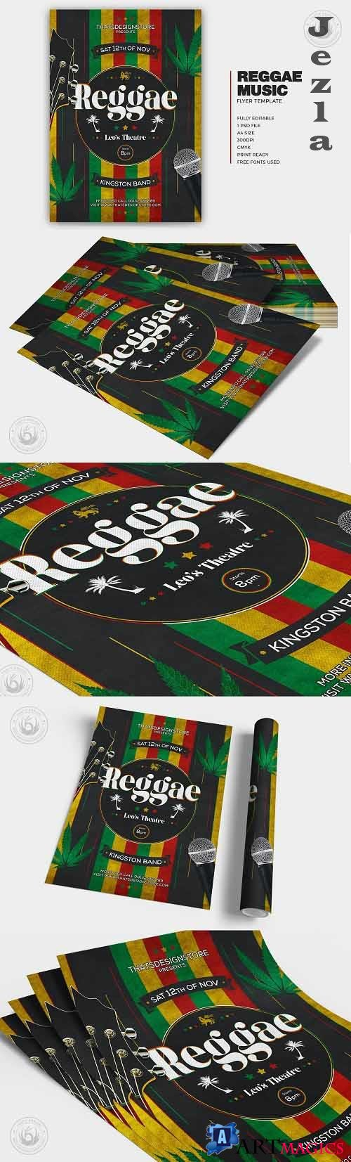 Reggae Music Flyer Template - 5836679