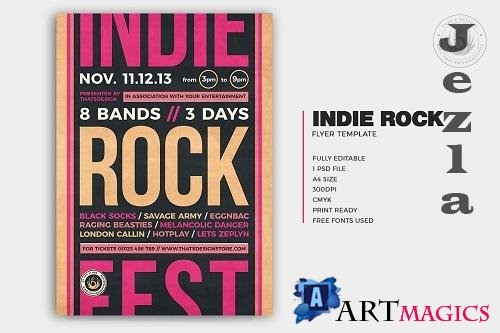 Indie Rock Flyer Template V12 - 5868757