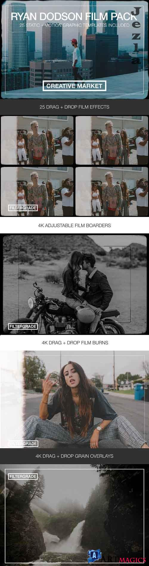CreativeMarket - Video Creator Vintage Film Elements 5873700