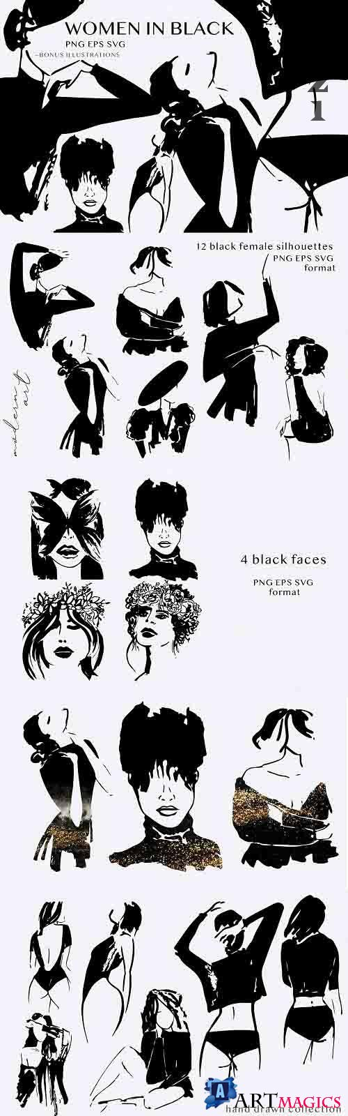 Black women silhouettes - 5929320