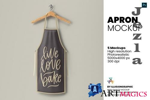 Apron Mockup - 5 Views - 5944932