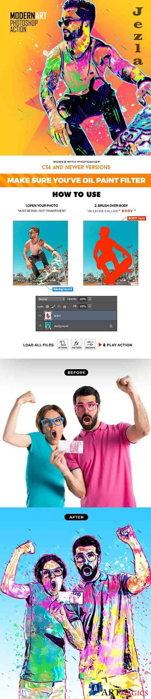 GraphicRiver - Modern Art Photoshop Action 30855119